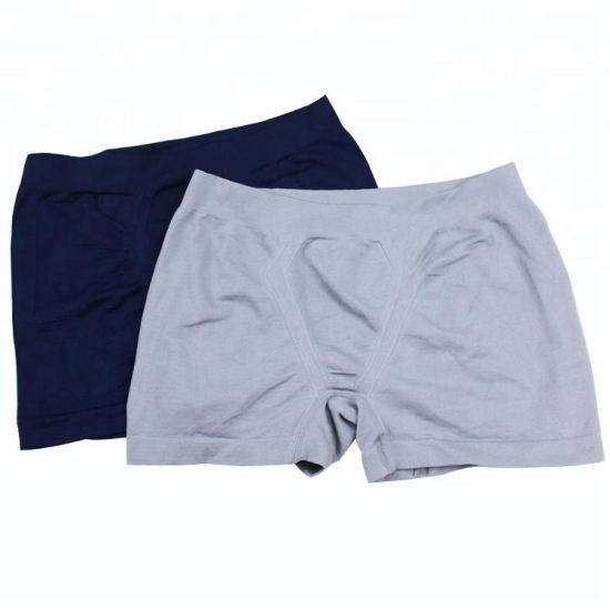 Wholesale OEM Mens Sports/Fashion Cotton Comfortable Seamless Black/Navy/Grey Shorts Boxers Briefs/Underwear/Underpants on Sale