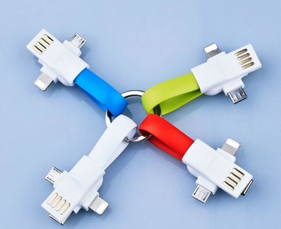 New Magnet Three-in-One USB Charge Cable for iPhone and Android Phones