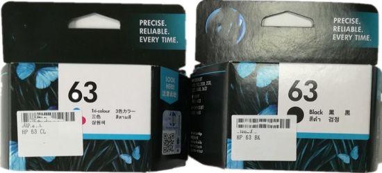 Popular Black and Color Original Ink Cartridge 63 for HP Inkjet Printer Consumable