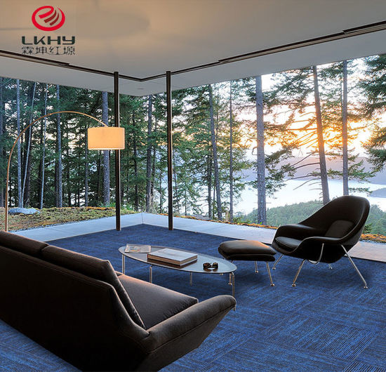 China PVC Floor Exhibition Commercial Carpet Tiles Wholesale