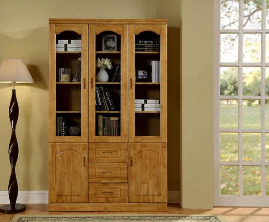 Solid Oak Wood Study Room Furniture Bookshelf M X2008