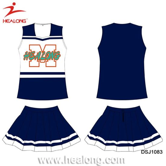 Healong ODM Dye Sublimated Team Cheerleading Dress pictures & photos