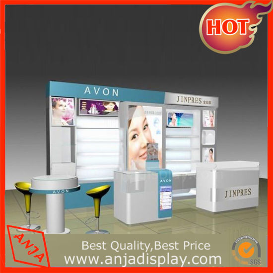 Hot Selling Custom Wholesale Wooden Cosmetic Display Shelf for Shop pictures & photos