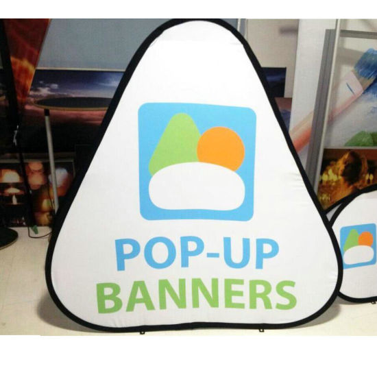 High Quality Custom Design Double Side Advertising Pop up a Frame Banner