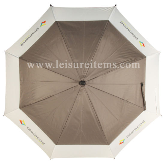 High Quality Windproof Golf Umbrella in Grey Colour (OCT-G17AD)