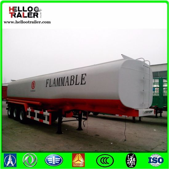 3 Axle Vacuum Water Oil Tank Semi Trailer Fuel Transporter Tanker Trailer pictures & photos