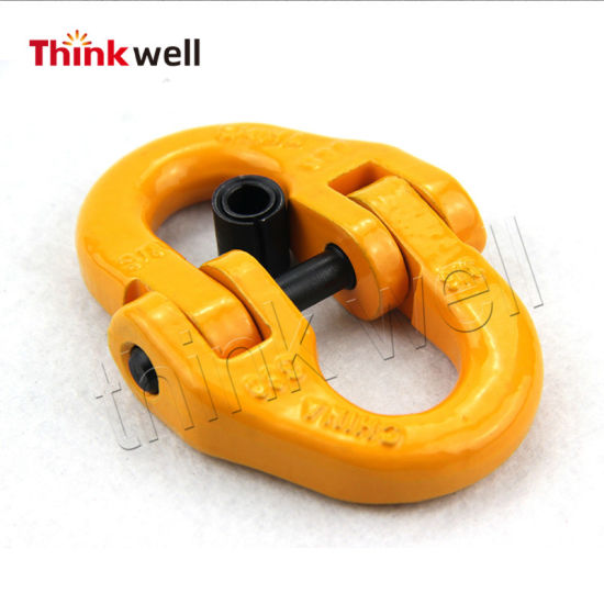 G80 European Type Forging Steel Red Painted Chain Coupling Link