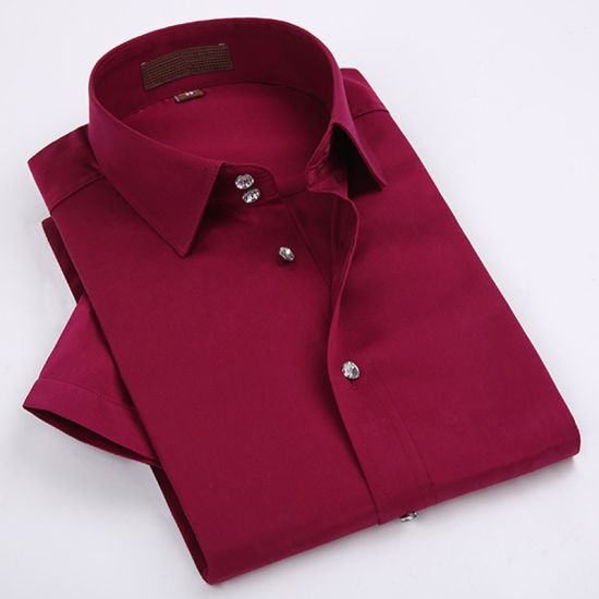 Wine Red Oxford Wholesale Mens Dress Shirts