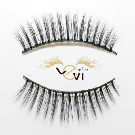 de8e287bc32 100% Hand Made Soft 3D Silk Lashes Strip Eyelashes Nature Long Synthetic  Eyelashes