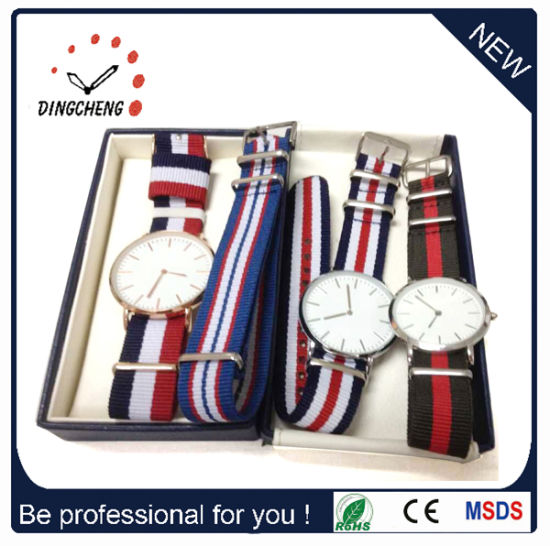 Fashion Ladies Men′s Stainless Steel Watches Japan Quartz Watch (DC-027) pictures & photos