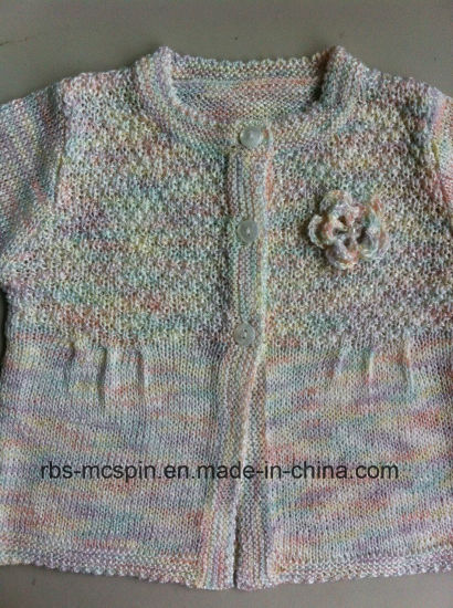 Kid′s Knitted Sweater for Girls-Rainbow Yarn Effect - Cardigan pictures & photos