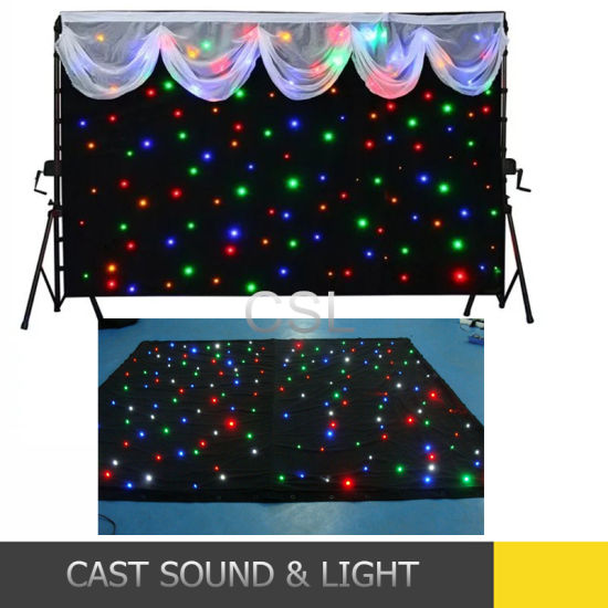 RGB LED Star Effect Stage Lighting Wedding Backdrop Curtains