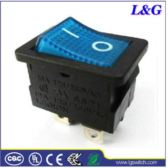 Power 12A 2 Position Mini Neon Pushbutton Micro Rocker Switch