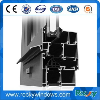 Rocky Hot Powder Coating Building Material Window Extrusion Aluminum Profile pictures & photos