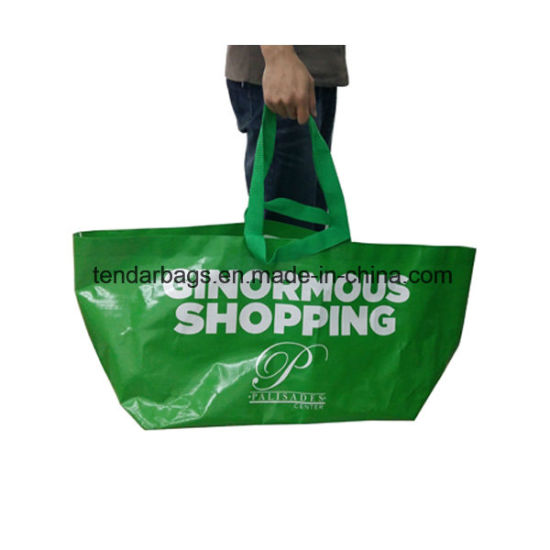 Large Promotion Waterproof Recycled PP Woven Beach Bag Shopping Tote Bag Reusable Grocery Non Woven Bag Fabric Garment Bag