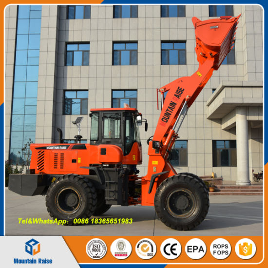 2500kg Hydraulic Wheel Loader with Small Grass Cutting Machine Zl36 pictures & photos
