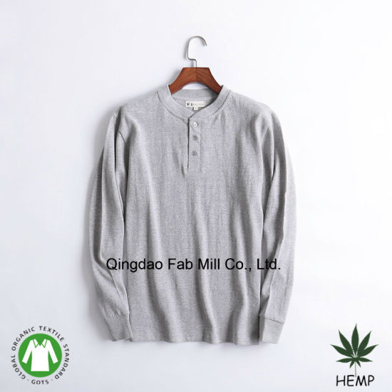 Men′s Hemp Organic Cotton T-Shirts (MLT-01/02) pictures & photos