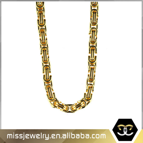 Wholesale Handmade 14K Gold Byzantine Chains Necklace Mjcn024 pictures & photos