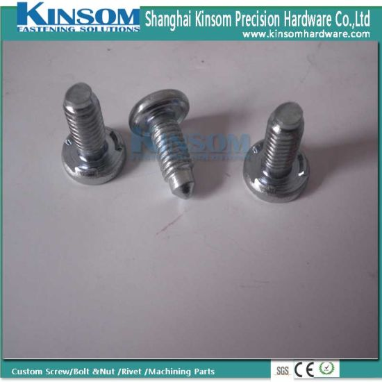 Special Taptite Weld Bolt with Pilot 3 Projection Foundation Blue White Zinc Coating