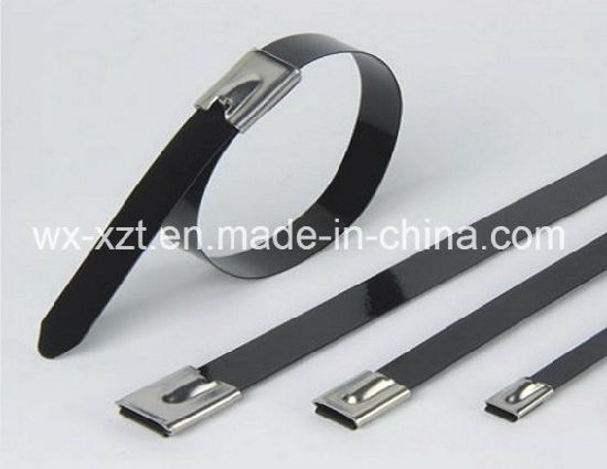 e4706068eb93 China Black Coated Ball-Lock Stainless Steel Cable Ties - China ...