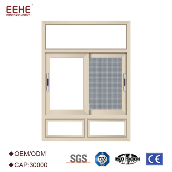 China Aluminum Frame Double Glass Sliding Window with Screen - China ...