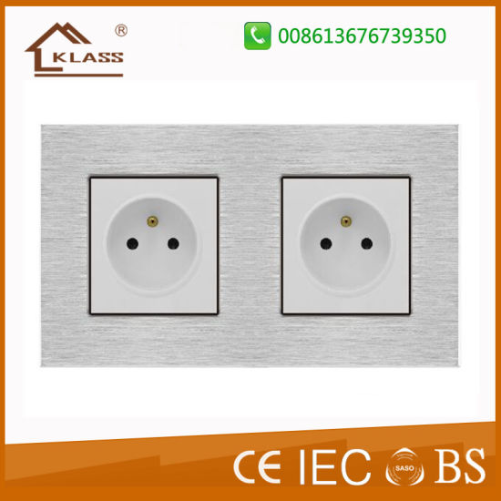 Glass Touch Wall Socket with USB Charger pictures & photos