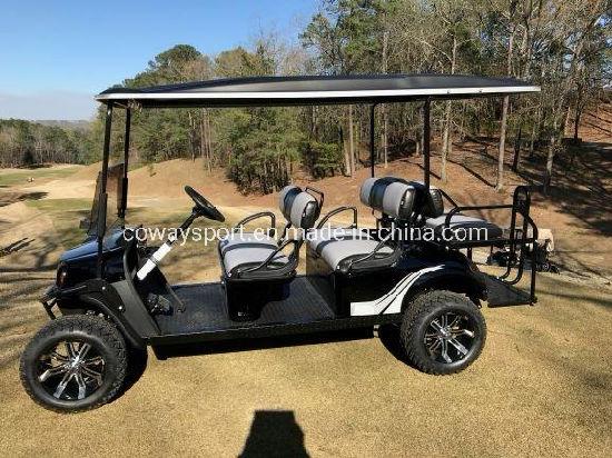 High Powerful New Fashion Ezgo L6 - 72-Volts Black Golf Cart