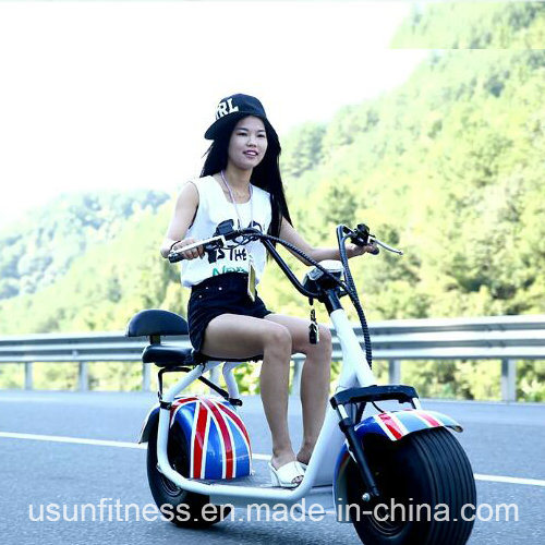 Wholesale Harley Style Cheap Electric Motorbike 60V Battery Pedal Scooter pictures & photos