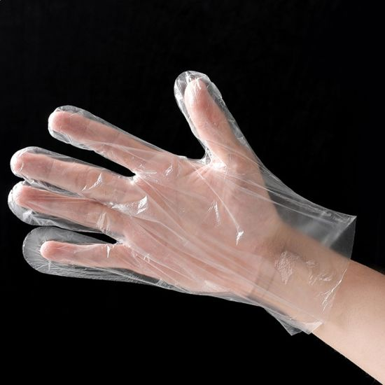 Remium Safety Transparent Hand PE Disposable Plastic Gloves