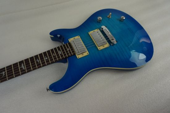 Blueburst Arch Body Prs Style Electric Guitar with Flame Maple pictures & photos