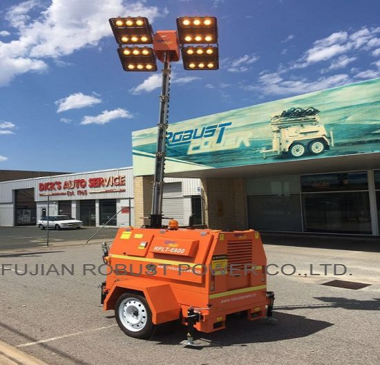Portable Telescopic Light Tower: China Vertical Hydraulic Telescopic Pole Mobile LED