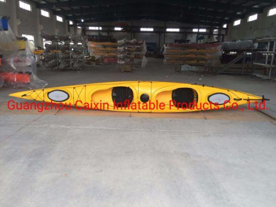 Factory Wholesale Polyethylene Sit in Double Sea Kayak Canoe