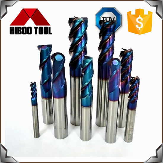 Solid Carbide End Mills with Blue Nano Coating for Steel