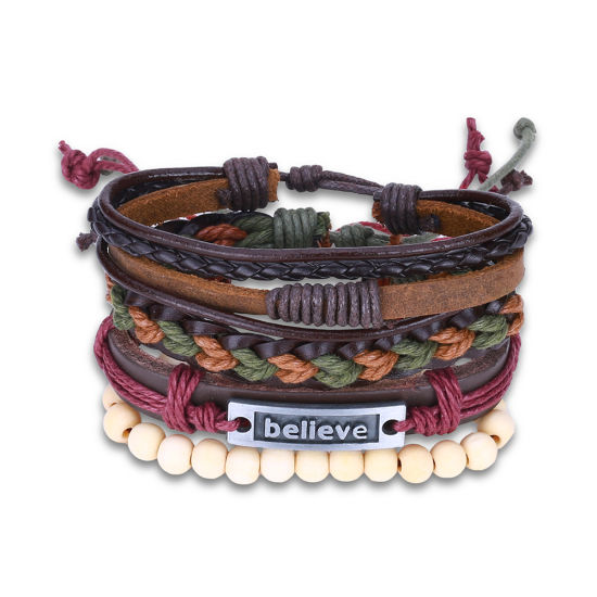 Fashion Hand Made Rope and Leather Bracelet Jewelry