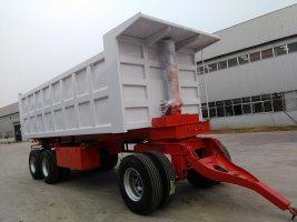 China Heavy Load 2axle Tipper Semi Trailer/Dump Trailer Manufacturer