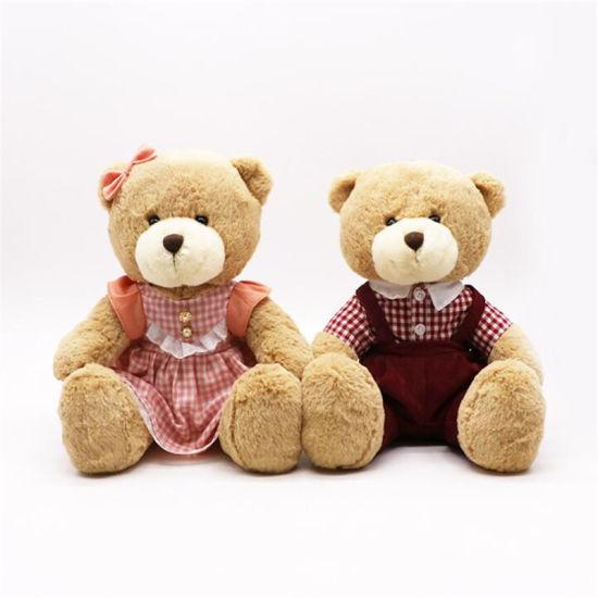 "Wholesale Customized Children Gift Brown 10"" Teddy Bear Plush Stuffed Soft Toys"