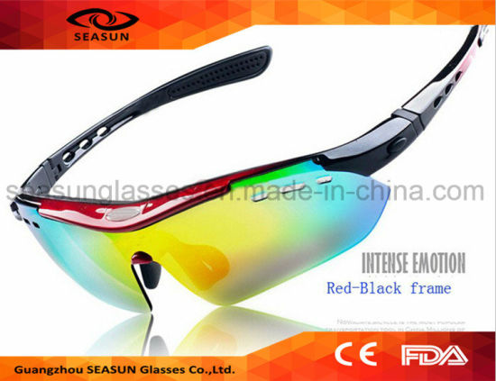 12645db3f8c Wholesale Dropship No Logo UV400 Promotion Cycling Sunglasses  Interchangeable Lenses Bicycle Riding Driving Sun Glasses