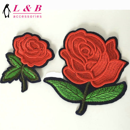 China 3d Embroidery Design Shoes Decoration Flower Patches China
