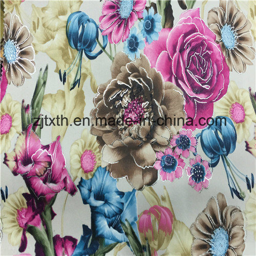 New Style Soft Velvet Printed Fabric for Home Textile pictures & photos