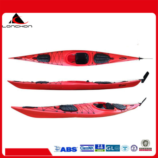 16FT 5m 3 Layer Plastic Single Sit in Kayak with Foot Pedals