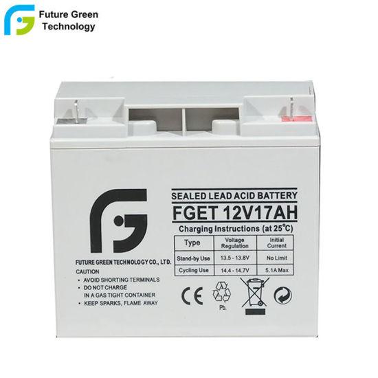 12V17ah AGM Reserve Backup Standy Lead Acid Battery for Light