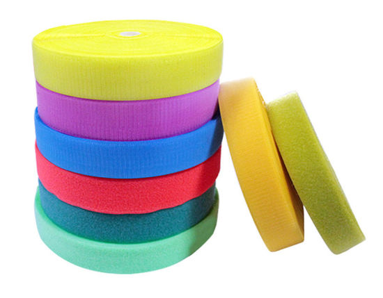 """1/"""" Sew-on Hook and Loop  fastener tape 100/% Nylon black white pink gold blue 9/"""""""