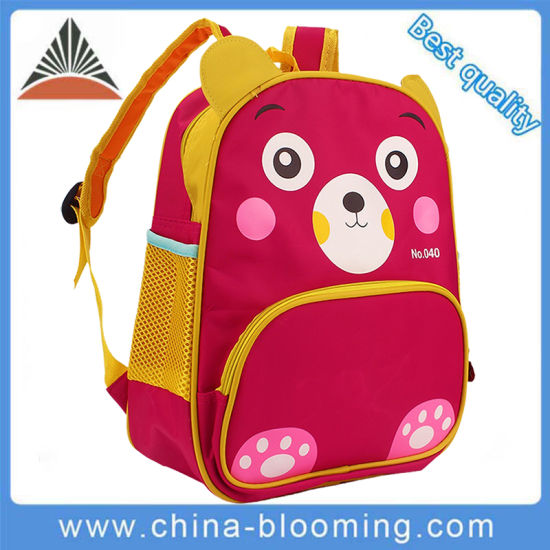 China New Custom 600d Polyester Small Red Kids Backpack Baby School ... fa3e4c14eaf7b