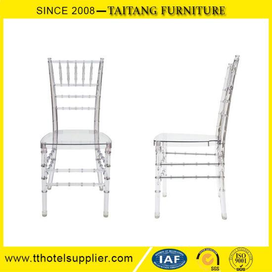 china popular wedding furniture clear transparent chiavari chairs