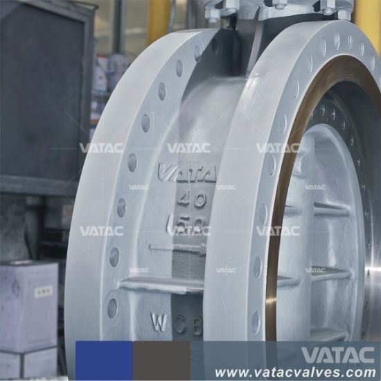 China Double Flanged Triple Eccentric Butterfly Valve