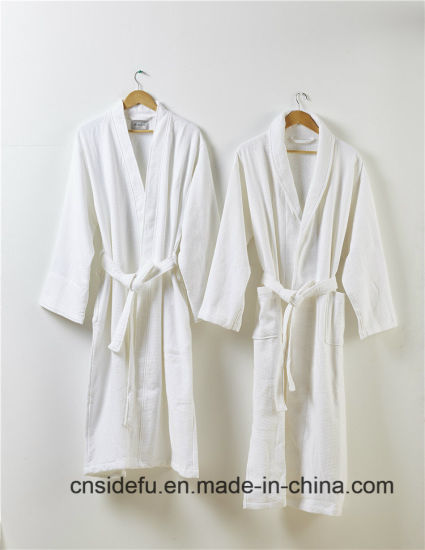 1fca1229eb Top Quality Embroidered Logo Luxury Hotel Waffle Terry Bathrobe pictures    photos