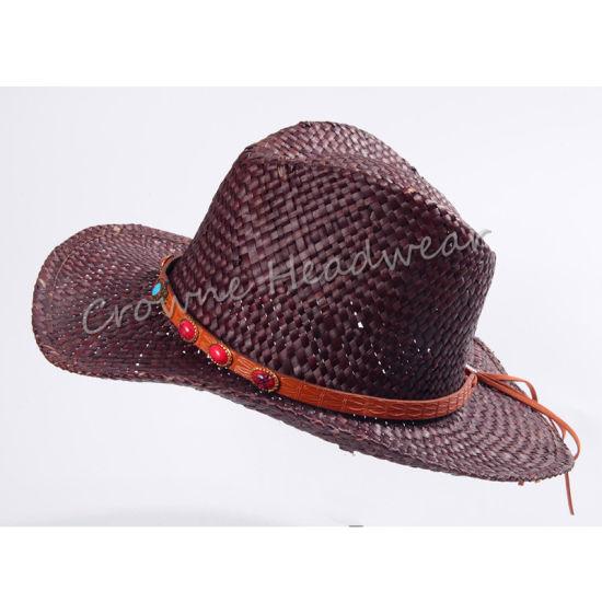 5fef873c China Widebrim Summer Paper Straw Cowboy Panama Bucket Hat Cap ...
