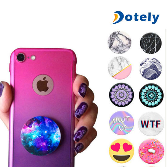 finest selection 35ab6 184e2 Pop up Socket Phone Holder Expanding Stand Grip Mount iPhone Samsung