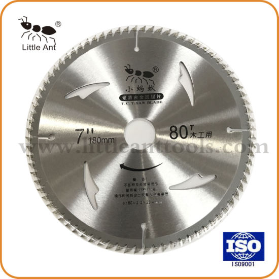 "7"" 80t Hardware Tools Circular Carbide Cutting Disk Tct Saw Blade for Wood Aluminum"