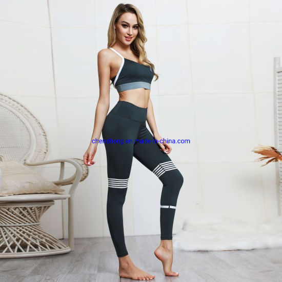 Sexy Women Gym Fitness Yoga Wear Set 2 Piece Girls Workout Yoga Leggings Set